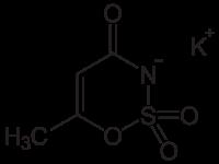 acesulfame-f-formula-chimica